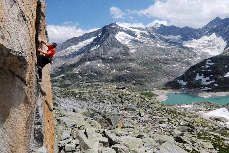 Klettern in der Weißsee Gletscherwelt