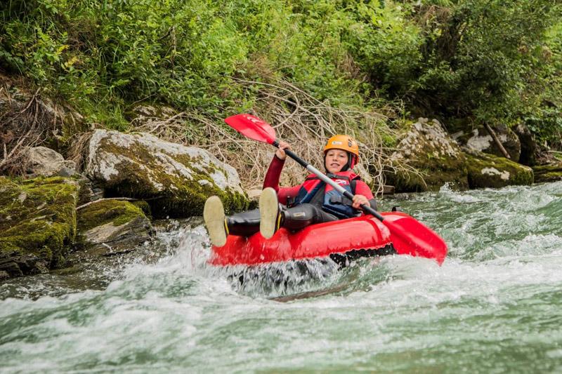 Rafting im Abenteuerurlaub im Salzburger Land