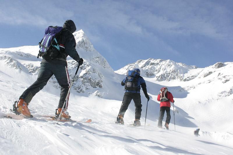 Skitouren gehen in der Weißsee Gletscherwelt