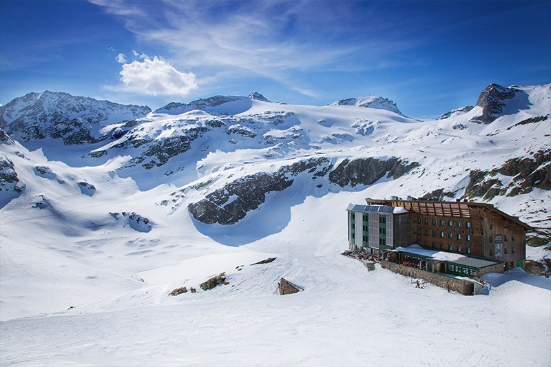 Winterurlaub im Berghotel Rudolfshütte in der Weißsee Gletscherwelt