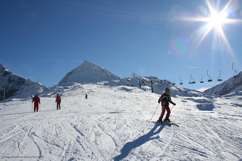 Skifahren im Skigebiet Weißsee Gletscherwelt