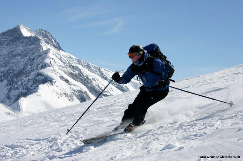 Skifahren in der Weißsee Gletscherwelt