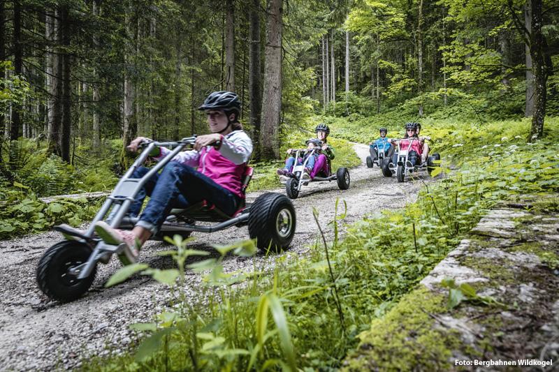 Mit dem Mountaincart durch die Wildkogel-Arena