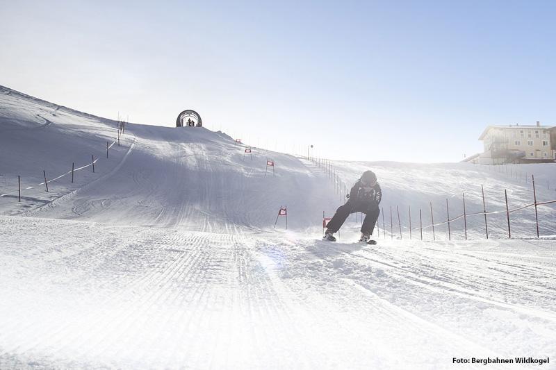 Skimovie-Strecke im Skigebiet Wildkogel-Arena