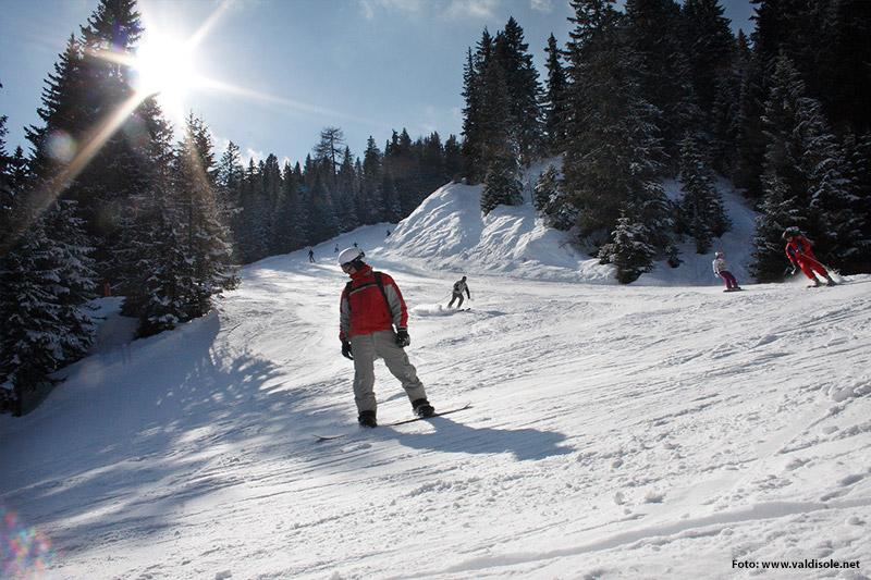 Orti Marivella Piste in der Skiarea Campiglio Dolomiti