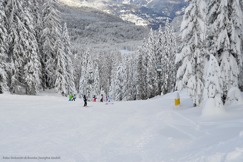 Skifahren im Skigebiet Campiglio Dolomiti di Brenta