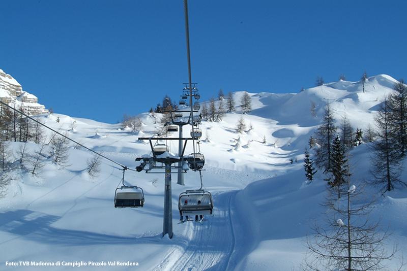 Skigebiet Campiglio Dolomiti di Brenta