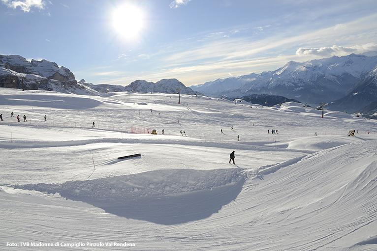 Skifahren in der Region Trentino