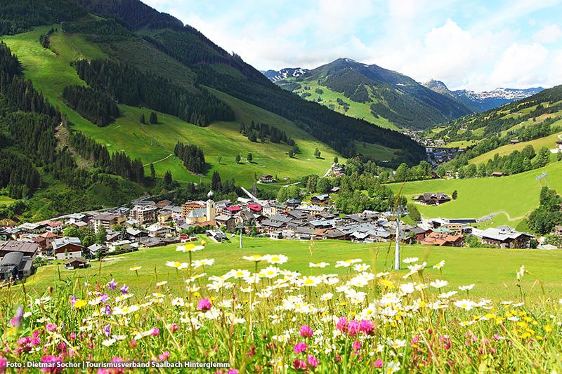 Sommerurlaub in Saalbach Hinterglemm - Ortsansicht Saalbach