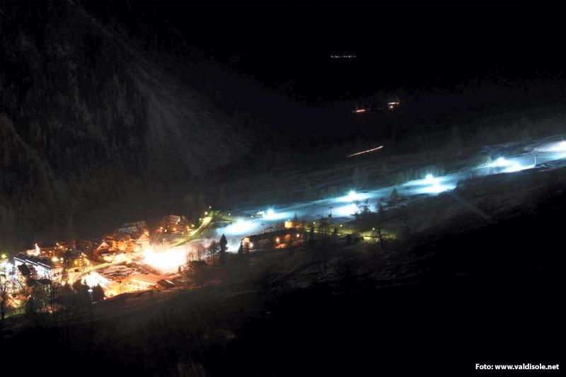 Nachtskilauf in Pejo 3000