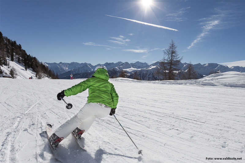 Skifahren in der Skiarea Pejo 3000