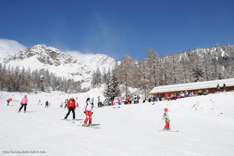 Skifahren im Skigebiet Pejo 3000