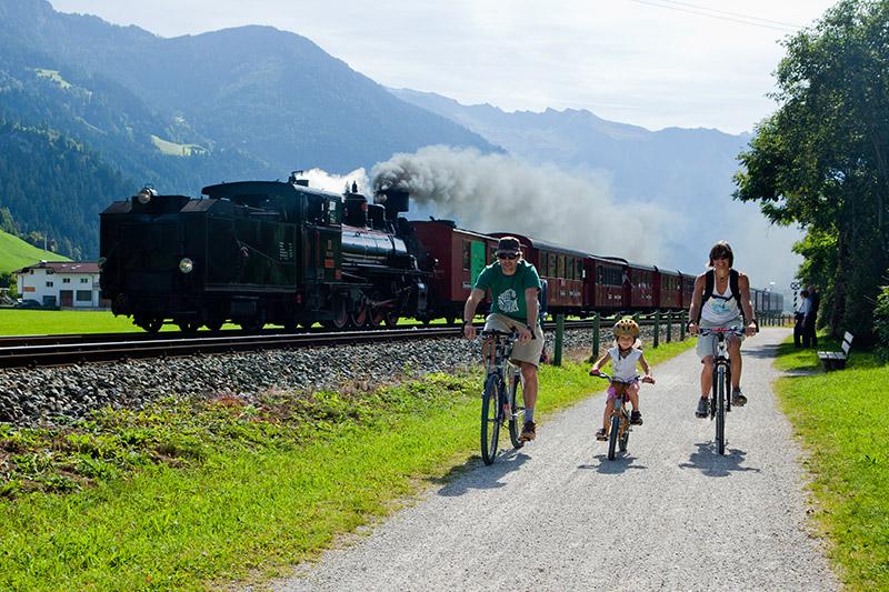 Dampflock Radweg im Zillertal