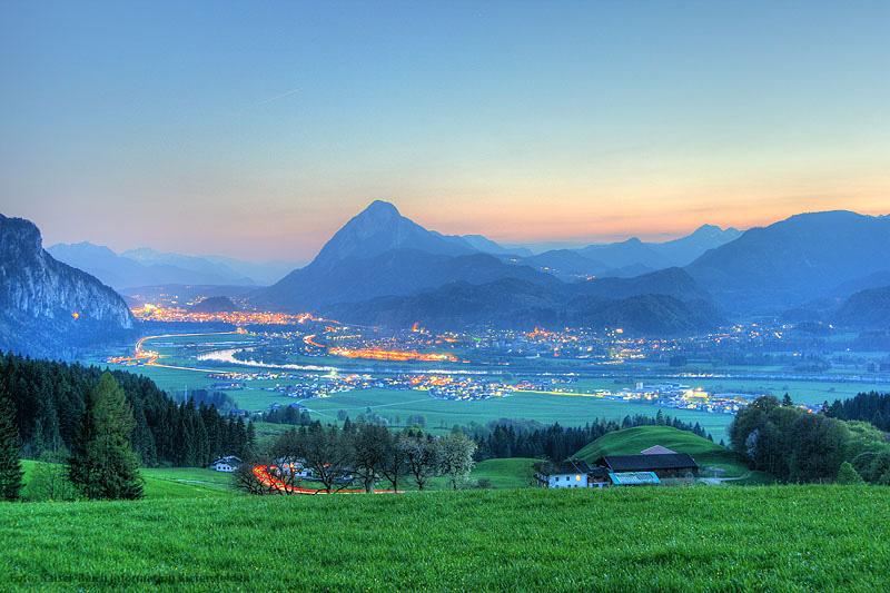 Blick ins Inntal in Oberbayern