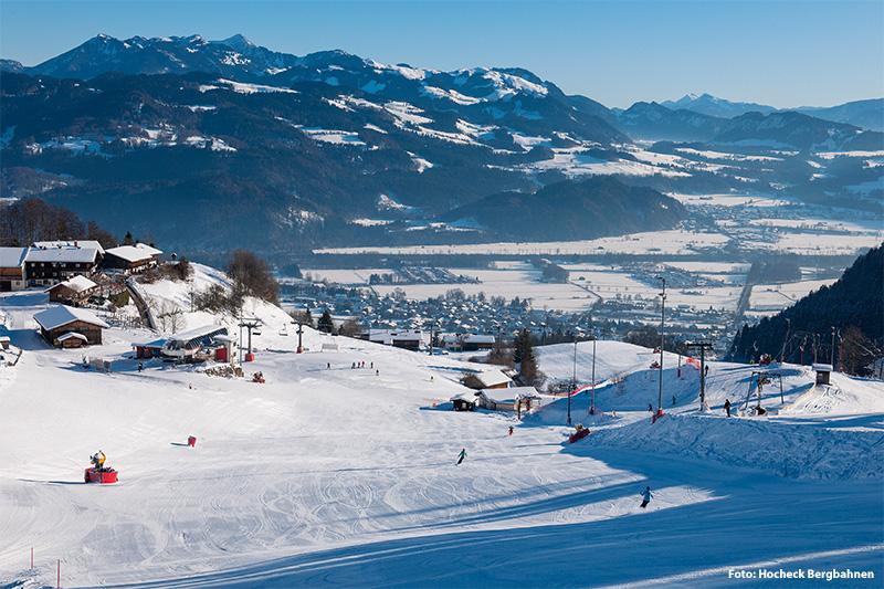 Skiefahren im Skigebiet Hocheck-Oberaudorf