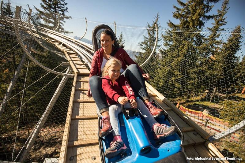 Alpine Coaster bei der Bergstation Wiedersbergerhornbahn
