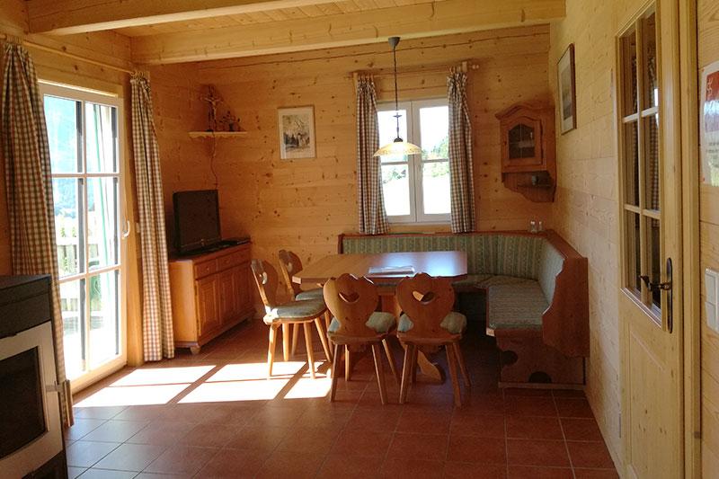 Wohnraum Hütte Hiatamadl