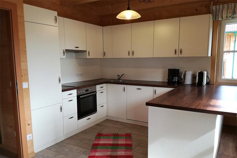 Küche Hütte Schneeflockerl