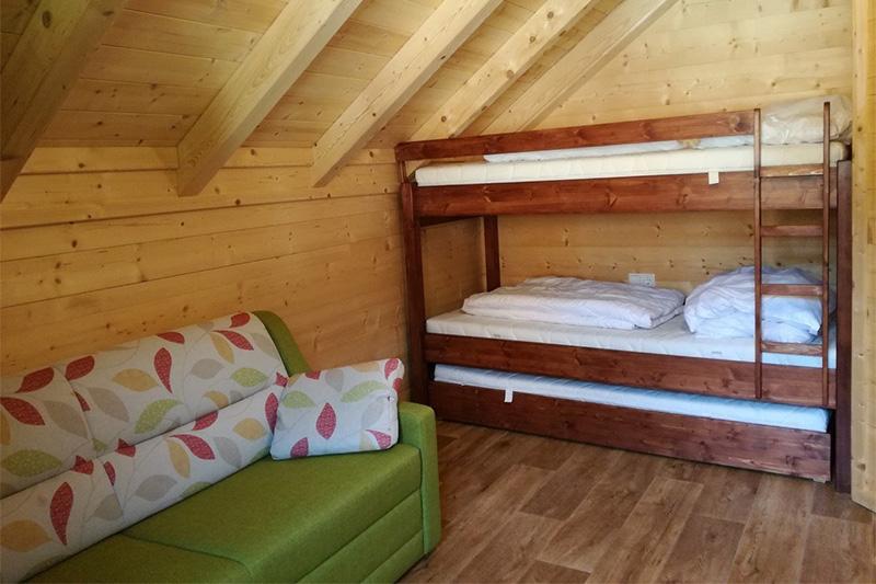 Mehrbettzimmer Schlafzimmer Hütte Schneeflockerl