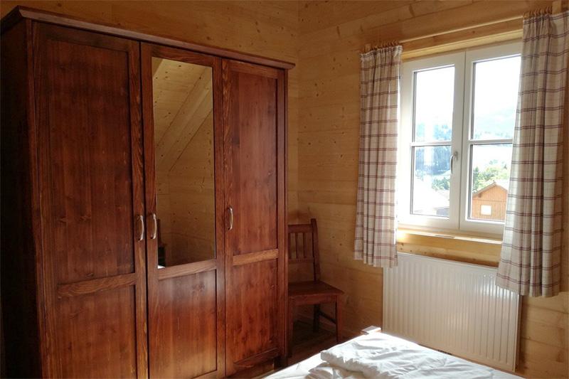 Schlafzimmer Hütte Schneeflockerl