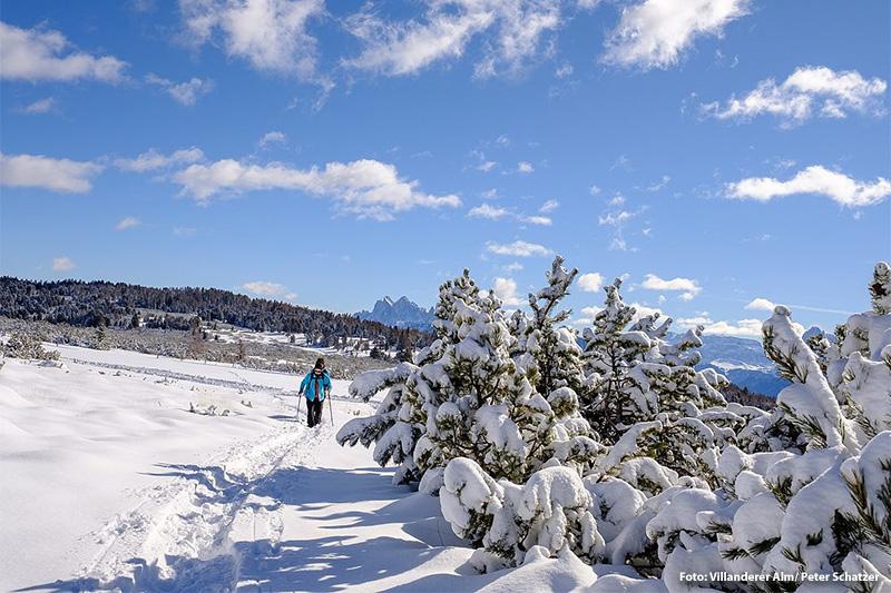 Winterwandern auf der Villanderer Alm
