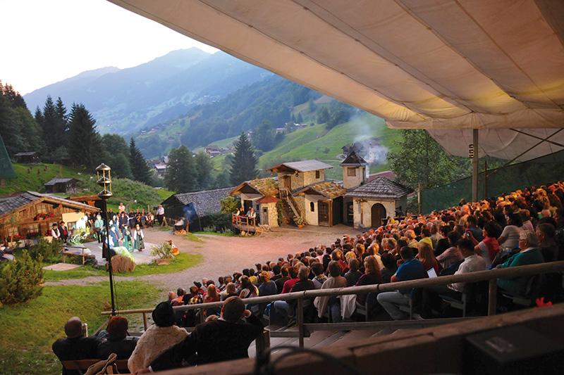 Freilichtbühne Silbertal - eine der größten in Europa