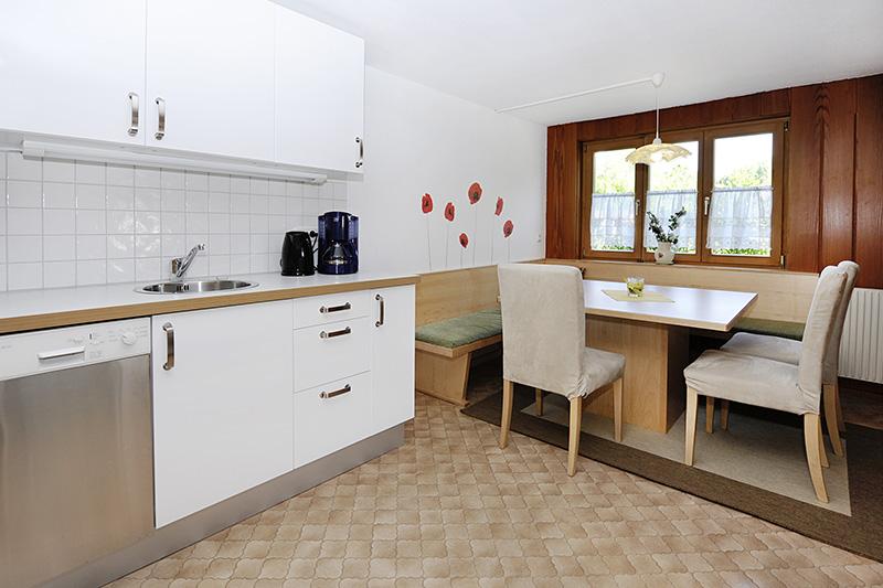 Küche im Ferienhaus Tschagguns (Wohnung 1)