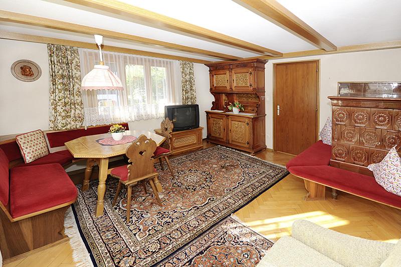 Wohnraum im Ferienhaus Tschagguns (Wohnung 1)