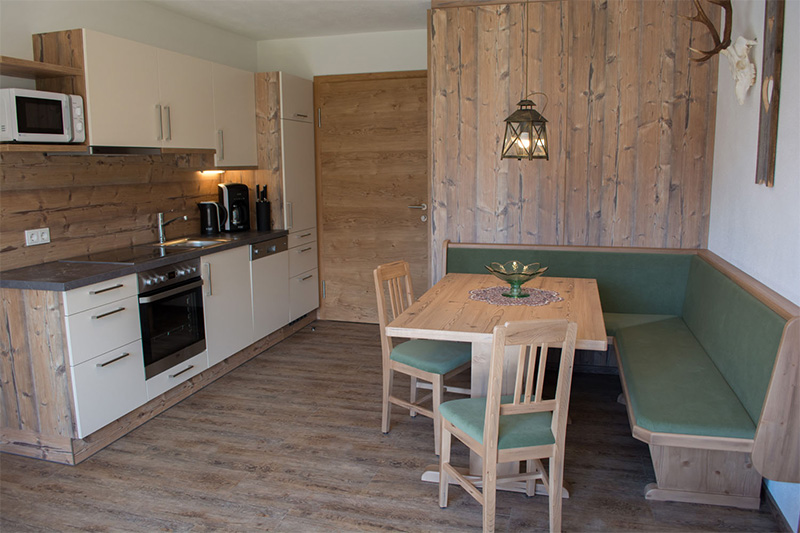 Ferienwohnung Rotschartl Blick - Wohnküche