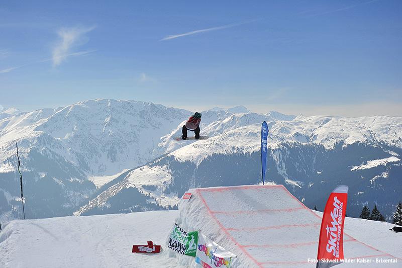Snowboarden in der SkiWelt Westendorf