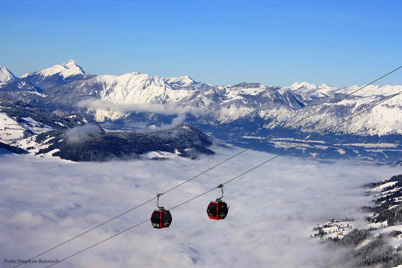 Skigebiet in den Kitzbüheler Alpen
