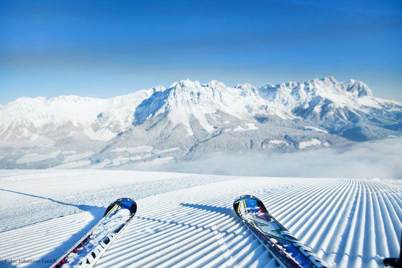 Skifahren in den Kitzbueheler Alpen