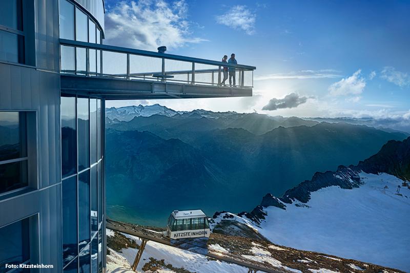 Aussichtsplattform (3.029 m) auf dem Kitzsteinhorn