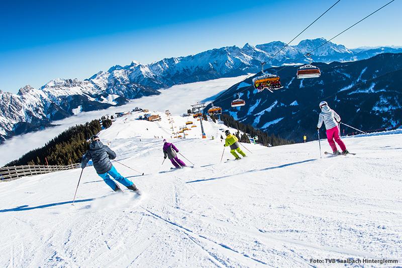 Skicircus: 270 Pisten-km, 70 Lifte, 60 Hütten, Snowparks..