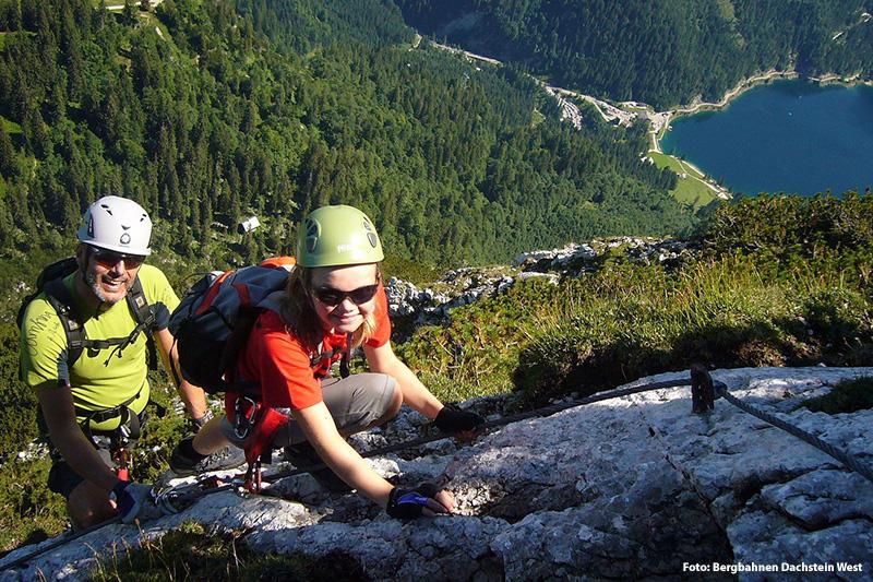 Schöne Klettersteige am Dachstein