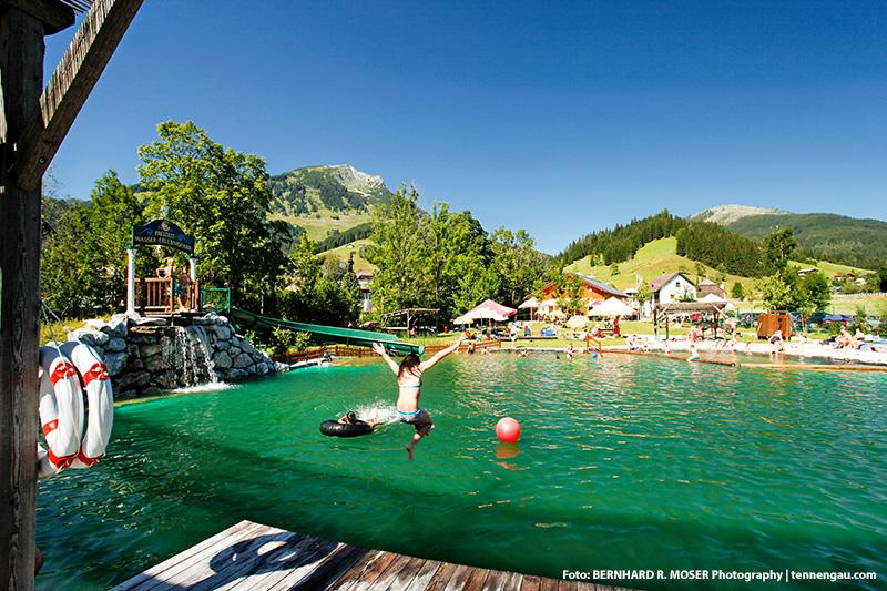 Das Naturbad und der Wasserpark sind für alle Russbacher Gäste kostenlos