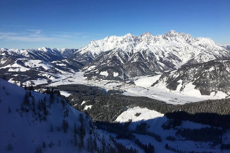 Auf 1000 m Seehöhe in Hochfilzen