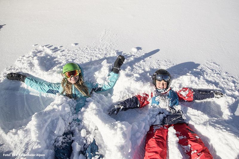 Skifahren Steinplatte Waidring