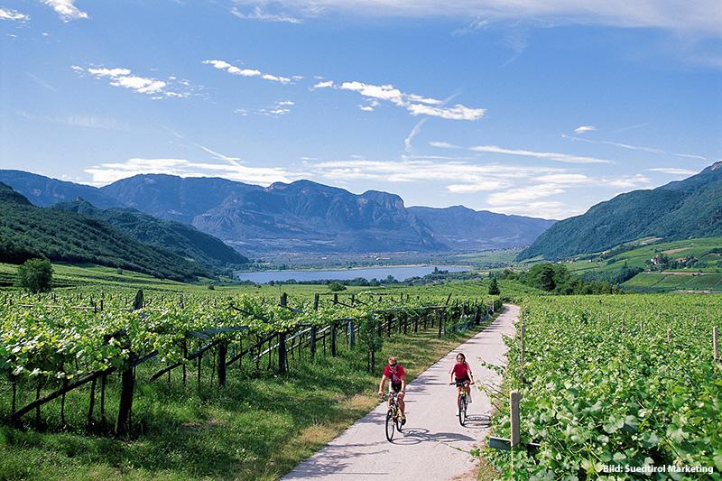 Radfahren und Mountainbiken in Südtriol