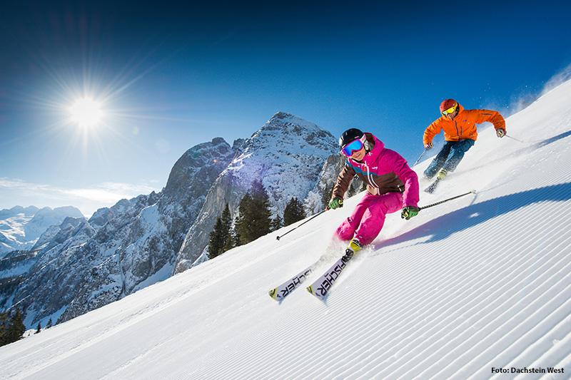 Skifahren im Skigebiet Dachstein West