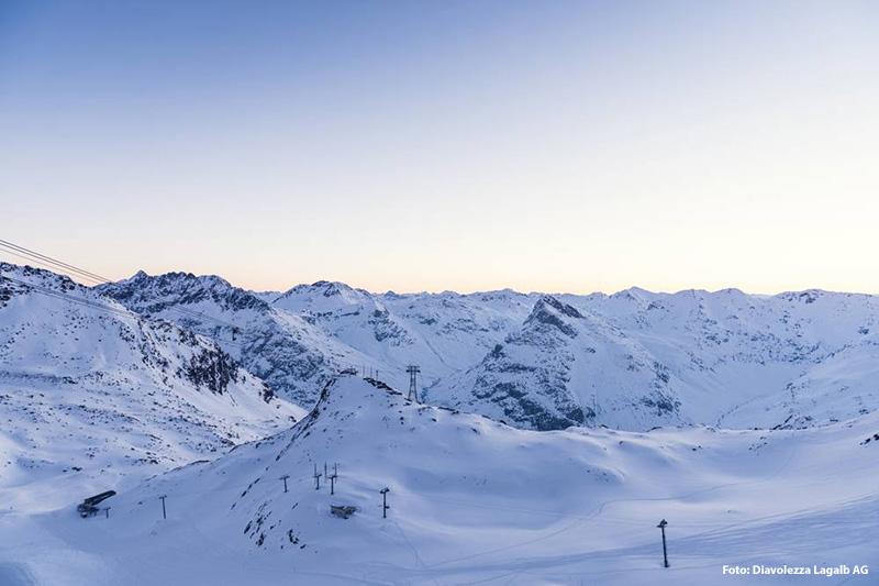 Das Ziel des Winterwanderwegs Sass Queder auf der Diavolezza