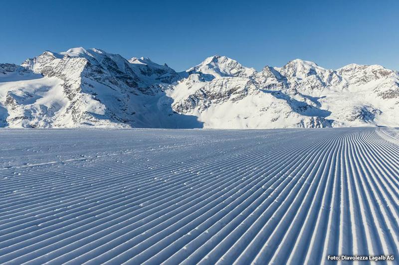 Winter im Skigebiet Diavolezza