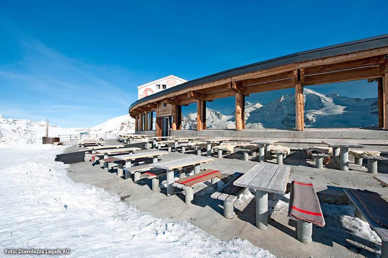 Berghaus Diavolezza liegt auf 3000 Meter über Meer - inmitten des atemberaubenden Festsaals der Alpen