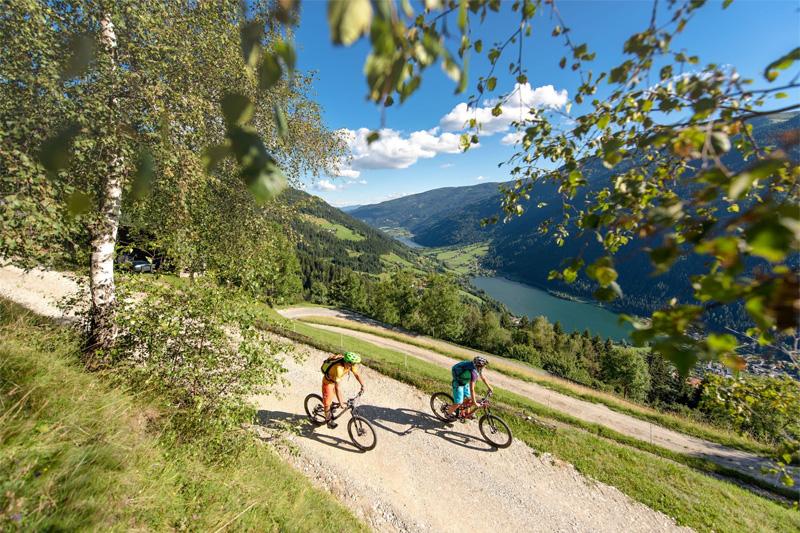 Radfahren und Mountainbiken vom See bis auf die Gipfel der Nockberge