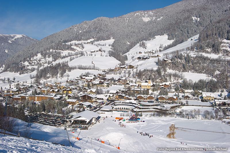 Ortsansicht im Winter Bad Kleinkirchheim
