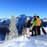 Extra Spaß beim Snowboarden versprechen die Funparks an der Alpspitze und am Hahnenkamm in Reutte