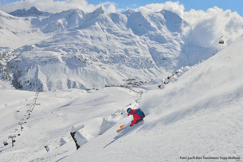 Freeriden und Tiefschneefahren in Lech am Arlberg