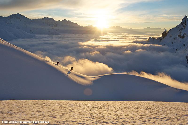 Skifahren von Dezember bis April im Skigebiet Lech-Zürs am Arlberg