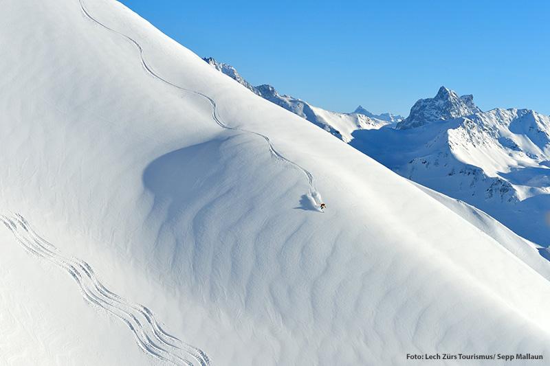 Freeriden im Skigebiet Lech-Zürs am Arlberg
