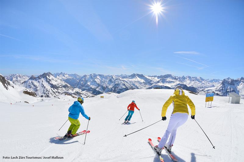 Perfekte Pisten für den Sonnenskilauf in Lech-Zürs am Arlberg